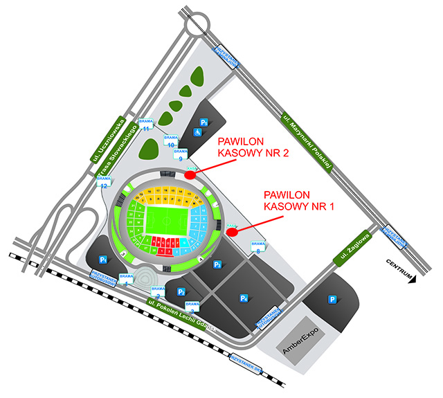 Mapa stadionu